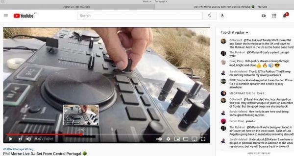 DJ streaming on YouTube