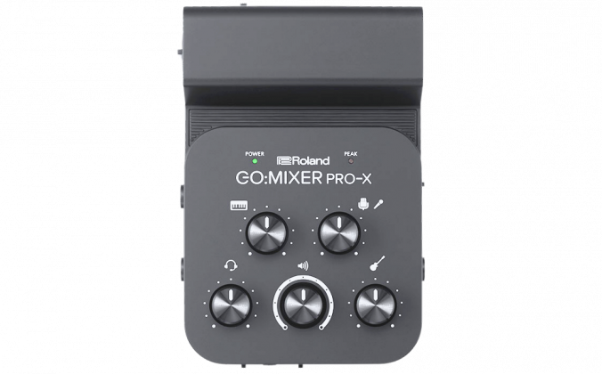 Picture of the Roland Go:Mixer Pro-X Audio Mixer/Interface