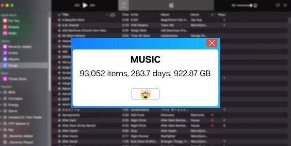 Large iTunes Music collection