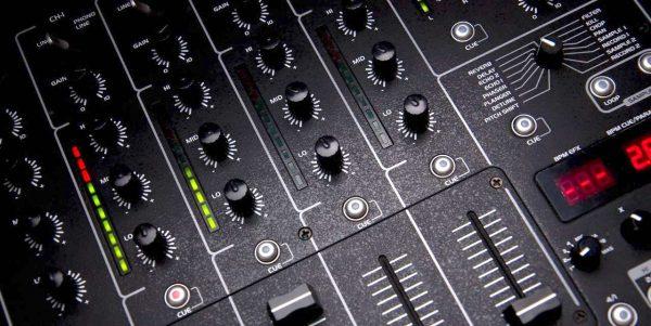 DJ mixer redlining