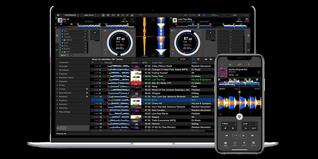 rekordbox professional plan on desktop and mobile