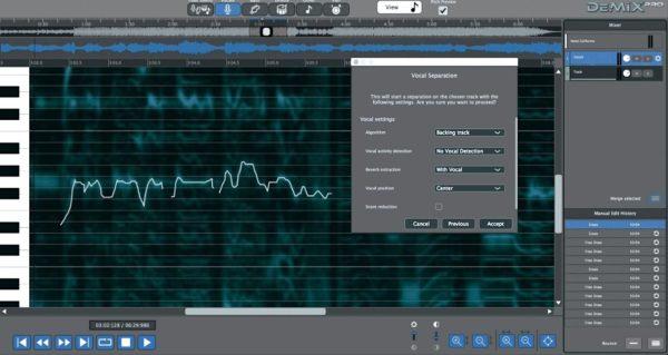 Demix Pro vocal separation